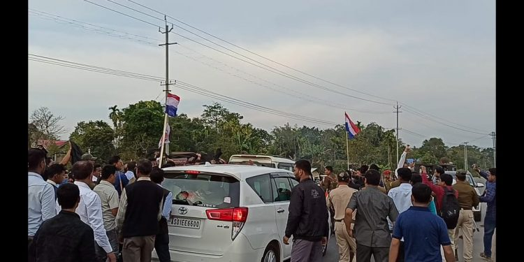 Minister Bora, who is also the president of AGP, had gone to Jagduar to address a party meeting.