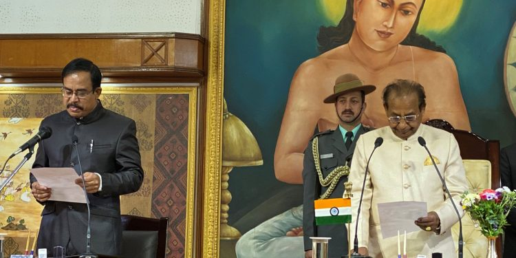Rout was administer the oath of office by governor Jagadish Mukhi at a ceremony in Raj Bhawan.