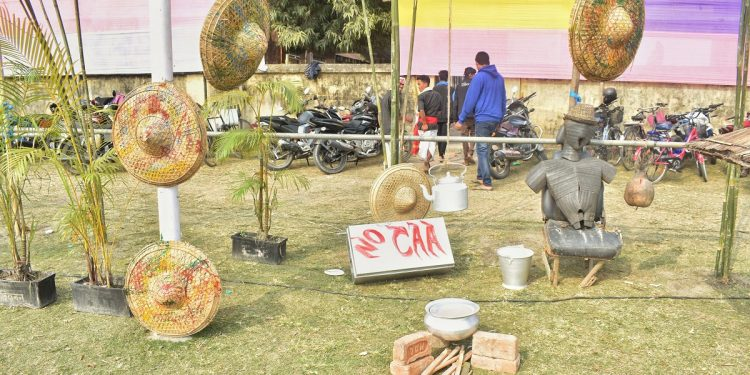 The symbolic protest against CAA at the venue in Tangla town of Udalguri district on January 31, 2020. Image: Northeast Now