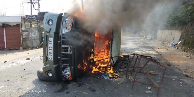 DFO vehicle torched