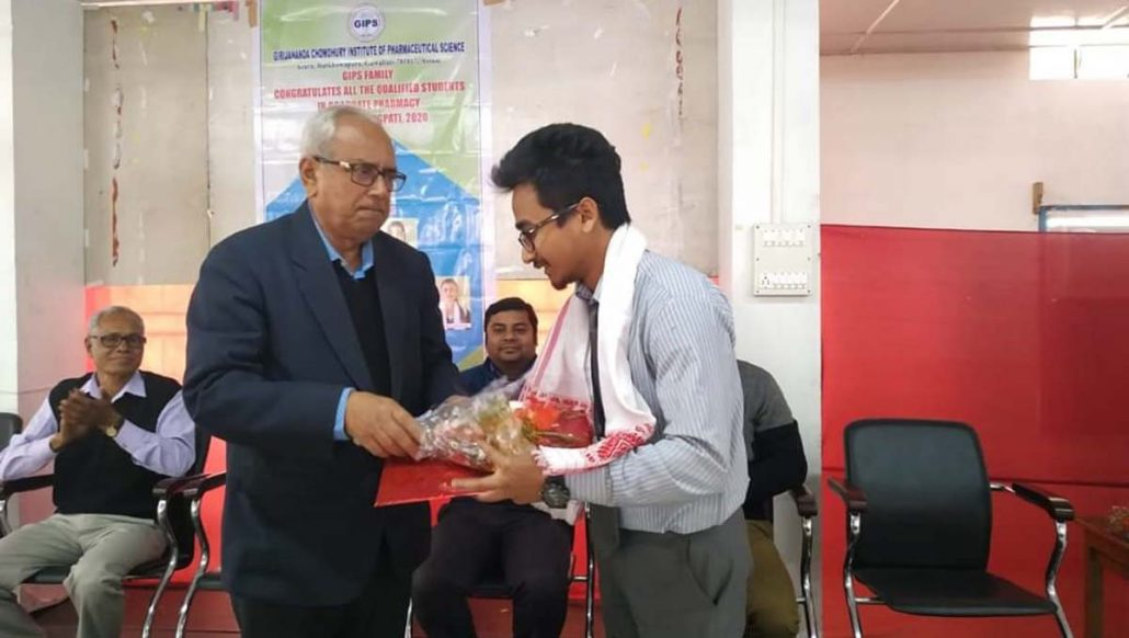 9 students from Guwahati-based GIPS qualify GPAT 2020, felicitated 1