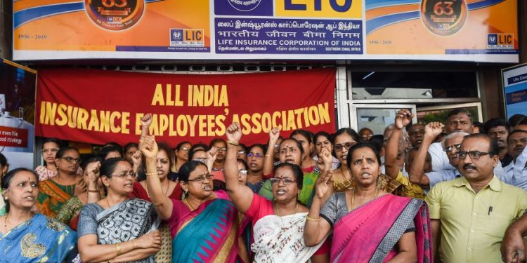 All India Insurance Employees Association (AIIEA) in alliance with two other organisations had called the strike across the country.