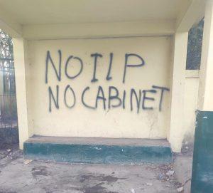 Pro-ILP wall writings mark Meghalaya Cabinet meeting at Jowai 4