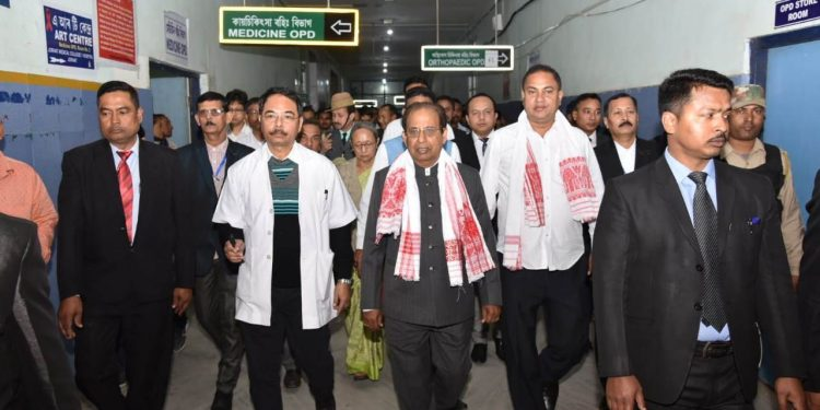 Governor Jagdish Mukhi at JMCH on Friday.