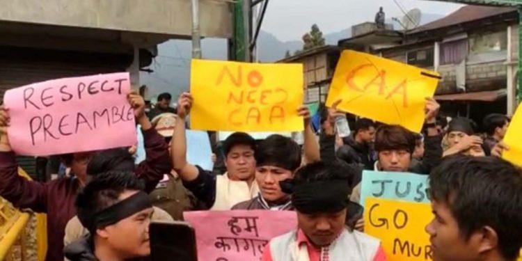 Protest in Itanagar