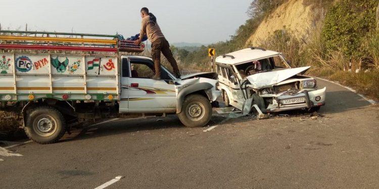 Road mishap at Dima Hasao