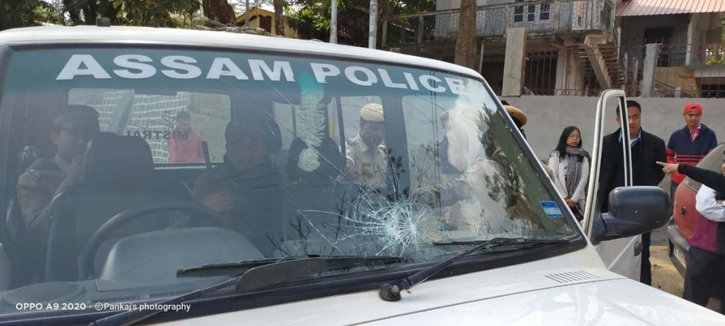 Assam: Bandh supporters torch govt vehicle, damage police & judge's cars at Haflong 4