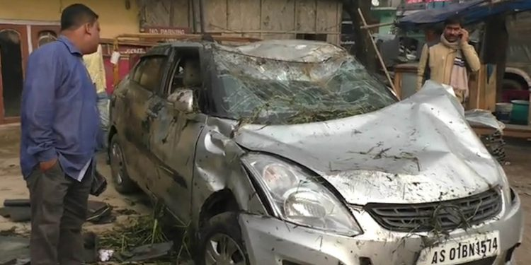The ill fated car that met with accident on Saturday morning. Image: Northeast Now