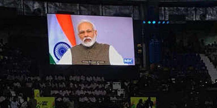 PM Narendra Modi inaugurating Khelo India University Games via video conferencing