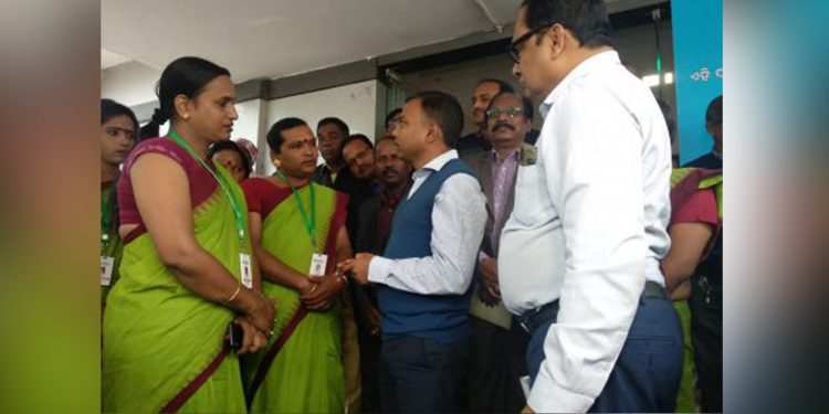 Members from transgender communities being trained regarding tax collection. Image credit: Odisha Bytes