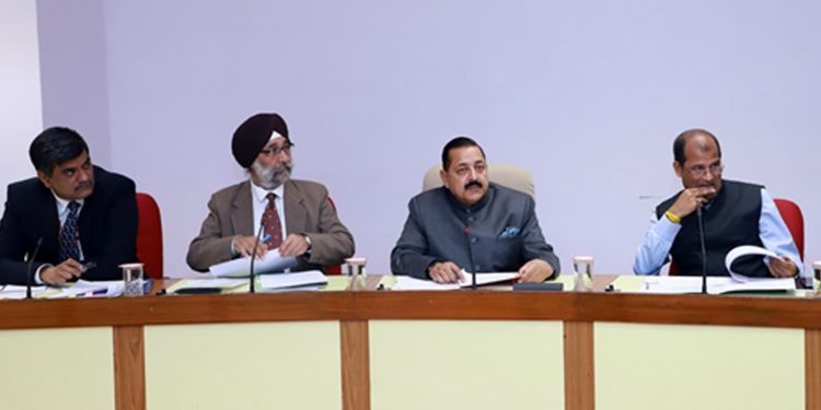 DoNER minister Jitendra Singh at the review meeting. Image: Northeast Now