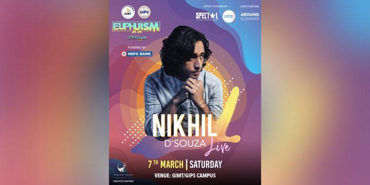 Nikil D'Souza set to enthrall Guwahati at GIMT fest Euphuism 1