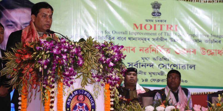 Assam CM Sarbananda Sonowal after inaugurating the New Margerita PS