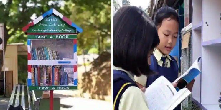 Mini roadside library. Image credit: Hindustan Times