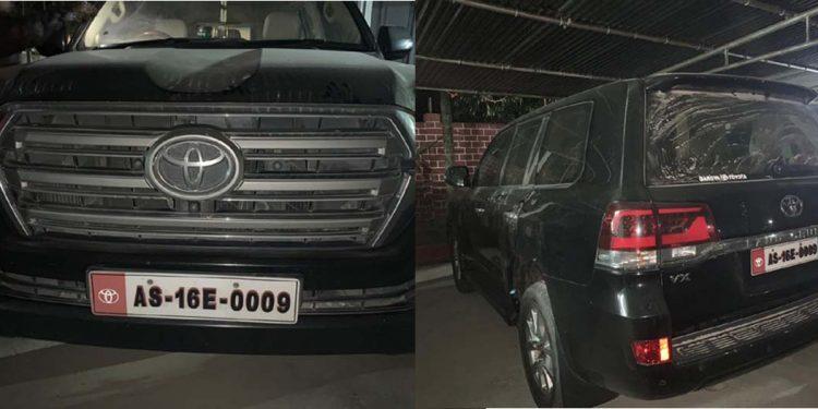 Hagrama Mohilary's wife's car