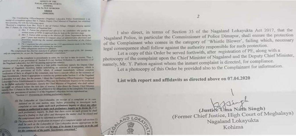 Nagaland Lokayukta orders probe against deputy CM Patton 1