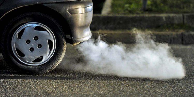 Vehicle emitting smoke