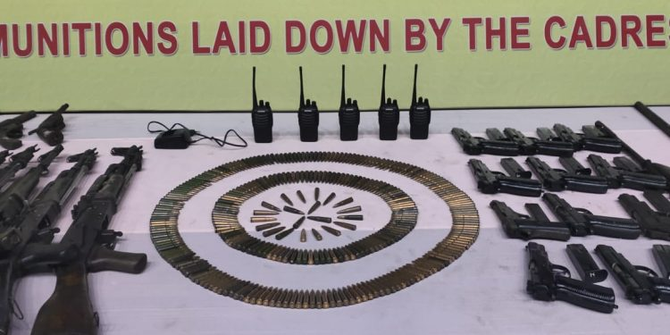 Union ministry of home affairs asked Dispur to ensure that the NDFB militants, who laid down arms recently, cannot keep any arms with them.