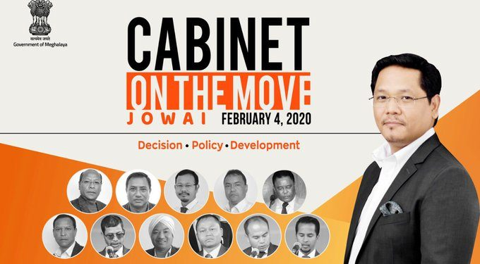 Meghalaya 'Cabinet on the Move' in Jowai on Tuesday 1