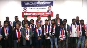 NPF president Shürhozelie Liezietsu welcomed the BJP members to the party fold.