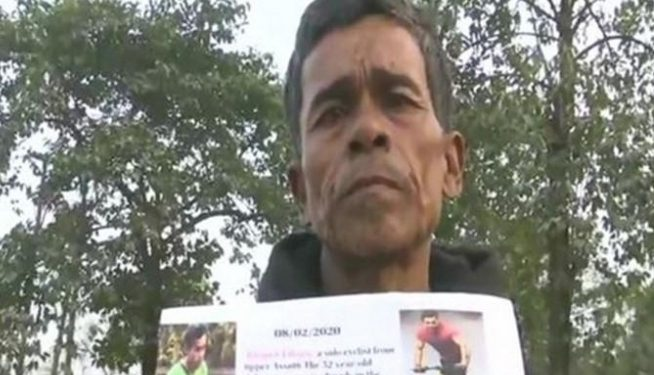52-year-old cyclist from Assam Bhupen Likson.