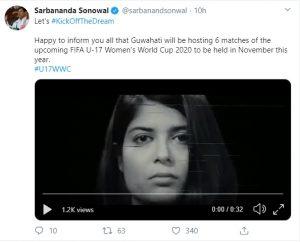 Guwahati to host FIFA U-17 Women's World Cup India 2020 1