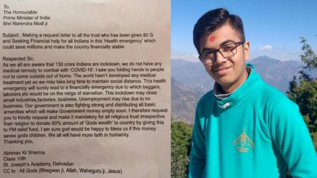 Order religious trusts to donate 80% of 'God's wealth' in fighting COVID-19: Dehradun boy asks PM 1