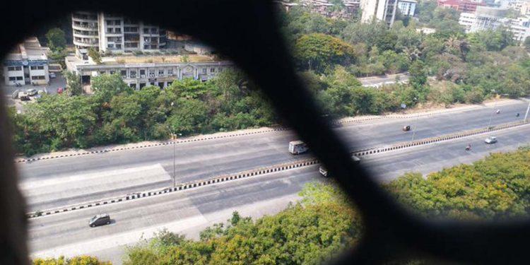 Road during lockdown