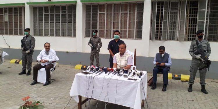 A file image of Assam health minister Himanta Biswa Sarma addressing media. Image credit - Northeast Now
