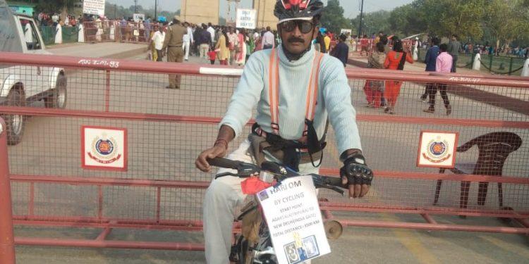 Tripura rifleman reaches Delhi on bicycle 1