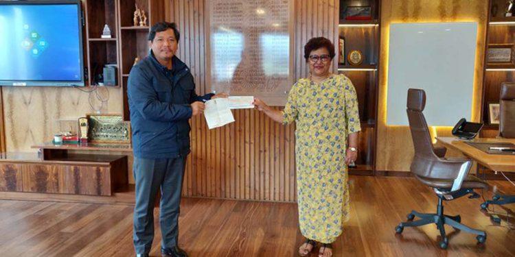 Donation to Meghalaya CMRF
