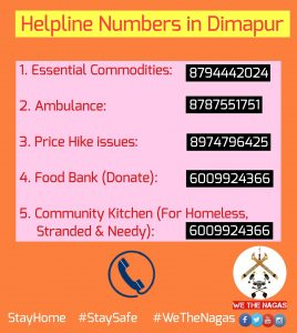 Nagaland: Dimapur district admin launches helpline numbers for lockdown-hit people 2