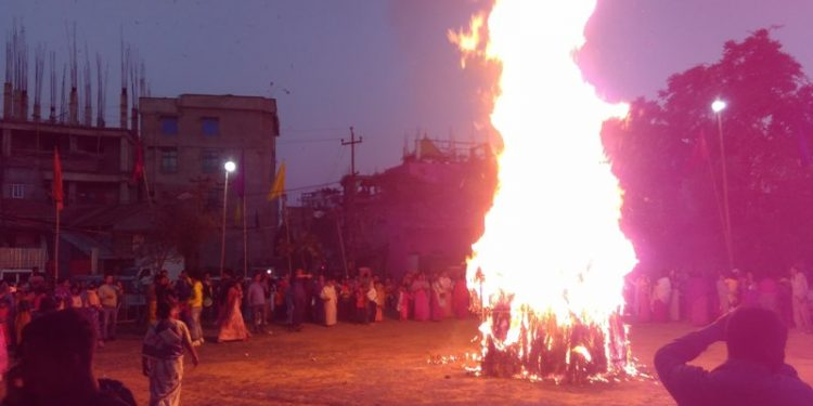 The festival celebrates the victory of good over evil and also the triumph of devotion.