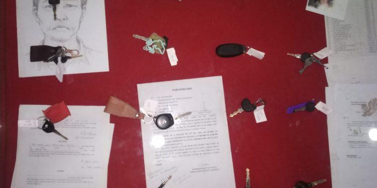 Vehicle keys of curfew and lockdown violators in police custody. Sourced image