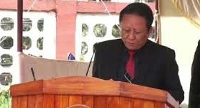 File image of Mizoram supply minister K Lalrinliana
