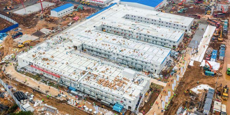 Makeshift hospitals in China