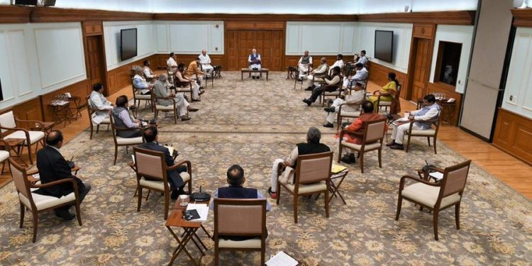 Social-distancing 'new mantra' in Modi's cabinet meeting 1
