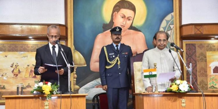 Assam governor Jagdish Mukhi on Monday administered the oath of office to the chairman at Raj Bhawan.