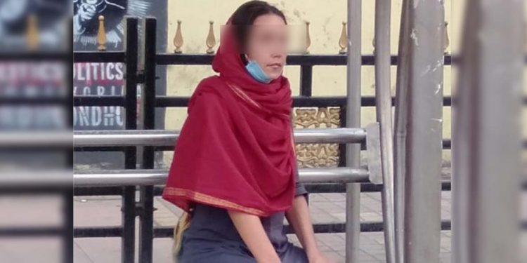 Russian girl in Guwahati.