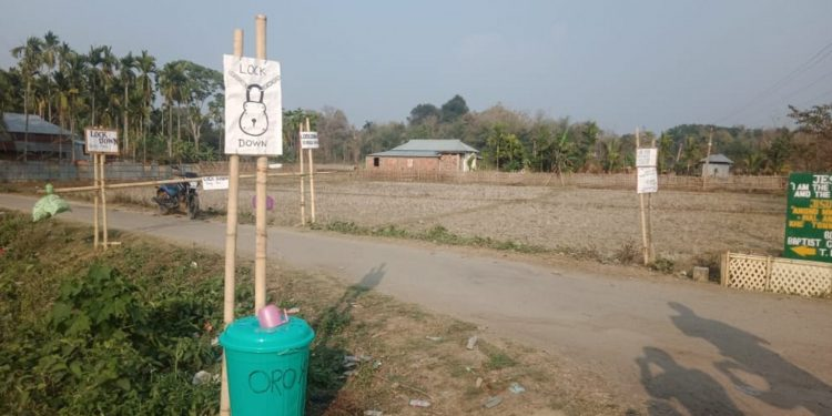 The check gate at the entrance of the village. Image: Northeast Now