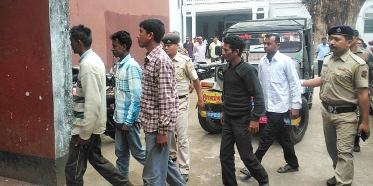 The five accused in police custody. Image: Northeast Now