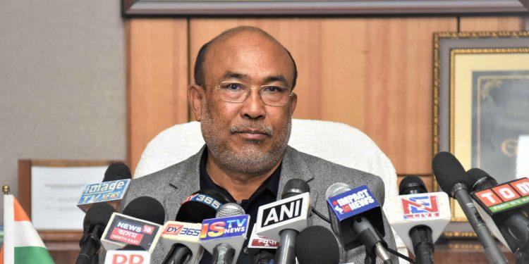 Manipur CM N Biren Singh informing the media regarding steps initiated to tackle coronavirus outbreak. Image credit: DIPR