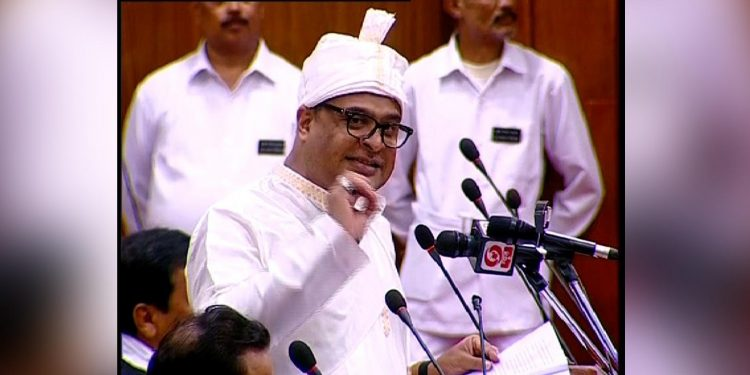 Assam finance minister Himanta Biswa Sarma while presenting the Budget