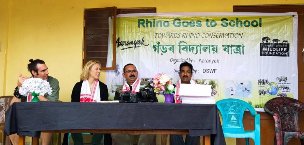 DSWF members Matt Amstrong, Emily Lamb along with CEO Bibhab Kumar Talukdar