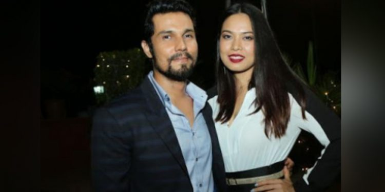 Randeep Hooda with Lin Laishram. Image credit: Zoom TV