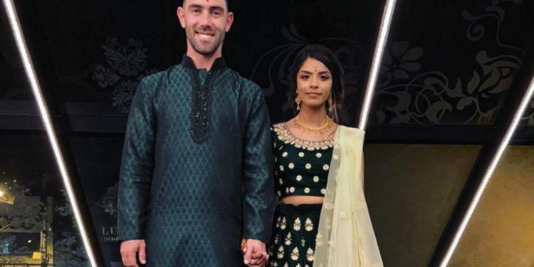 Glenn Maxwell and Vini Raman. Image credit: Instagram