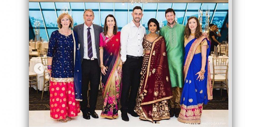 Glenn Maxwell wears Indian ethnic for engagement to Vini Raman 1