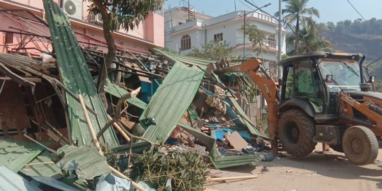A portion of the demolished house. Image: Northeast Now
