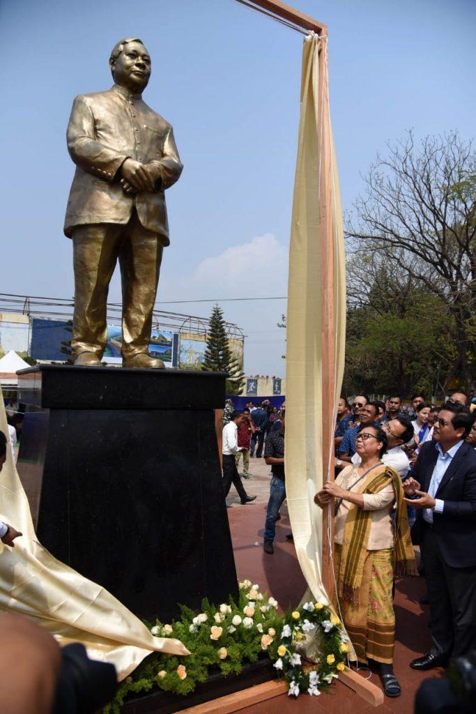 Conrad Sangma unveils statue of PA Sangma 1