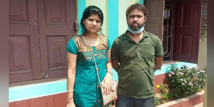 Ajit Debnath (right) and his wife being asked to vacate their rented flat as they are medical practitioners. Image: Northeast Now